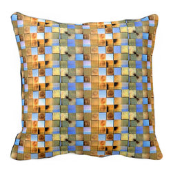 Tomova Jai Designs - Cali Collection-Toasted CaliMex Decorative Pillow, Dark - This eccentric eye catcher is a client favorite and part of our new Cali Collection.