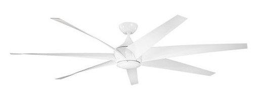 "Kichler - Kichler 310115WH Lehr 80"" Outdoor Ceiling Fan 6 Blades - Remote, 8"" Down - Kichler 310115 Lehr 80"" Ceiling Fan"