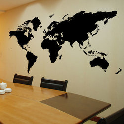 ColorfulHall Co., LTD - World Map Wall Decals in office - World Map Wall Decals in office