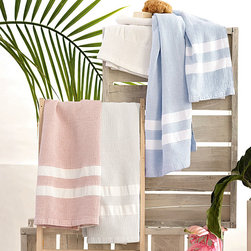Waffle Towel - The classic waffle weave of this plush towel makes it ideal for displaying beside an heirloom water pitcher in the bath, alongside a collection of luxurious bath towels in a guest room, or atop a vanity in a powder room. Fashioned from 100 percent pure cotton, the Waffle White Towel offers supreme softness in a timeless style.