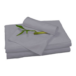 BedVoyage - Sheet Set, Platinum, Queen - BedVoyage Bamboo Bed Sheets are made from 100% bamboo viscose, are subtly cool and extremely breathable, with a feel softer to the touch than a 1,000 thread-count Pima cotton. The linens will not pill nor fade. Bamboo is an easy care and durable fiber, and those with sensitive skin will benefit from the round bamboo fibers which are extremely smooth against the skin. Sheet sets include a deep-pocket fitted sheet, a flat sheet, and two pillowcases (1 for Twin size).
