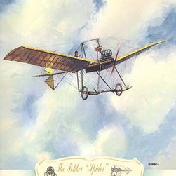 """Buyenlarge.com, Inc. - The Fokker Spider, 1912- Fine Art Giclee Print 24"""" x 36"""" - Biplanes or planes with Double sets of Wings during the period of early aviation"""