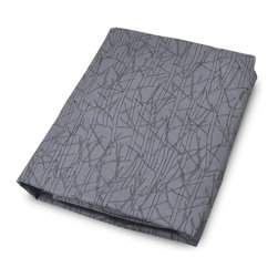 OLLI+LIME - TWIG CRIB SHEET - CHARCOAL - Soft cotton fitted crib sheet in charcoal nature-inspired Twig design. Fits standard-sized US crib. One-inch elastic for a safe and secure fit.