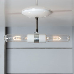 Industrial Ceiling Light Double Semi Flush Mount Lamp - Industrial Light Electric