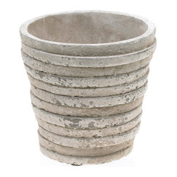Ancient Days Pot - Remember when people didn't have cell phones and they were using their hands to explore things like ceramics? Well, those days are back. This striking white ceramic pot harkens to days long gone. Fill it up with rich soil and plant your favorite blooms.