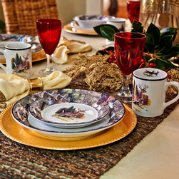 Great Ideas - Realtree Interior Licensed Products - Camo/Deer Dinnerware (Includes Dinner Plates, Salad Plates, Bowls and Mugs, 24 pc set) by Great Ideas.