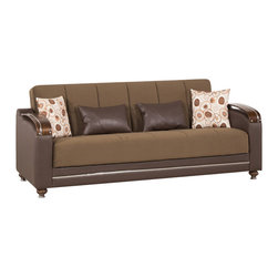 Casamode Furniture - Divamax Sofa Bed | Sarp Dark Chocolate - If you want comfortable and functional furniture that doesn't take much space, Divamax is what you're looking for. Compact and functional, the Divamax sofa converts into a bed and has a generous storage inside. The sofa comes upholstered in Sarp Dark Chocolate fabric.