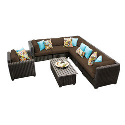 TKC - Rustico 8 Piece Outdoor Wicker Patio Furniture Set 08b 2 for 1 Cover Set - Features: