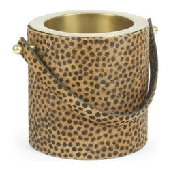 "Go Home Ltd - Go Home Ltd Leopard Wine Cooler X-66781 - 14"" Height at Handle."