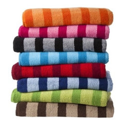 Room Essentials Fast Dry Stripe Towel Set - Avoid awkward laundry mix-ups with bold stripes and strong hues. Plus, c'mon, white towels are boring anyway.