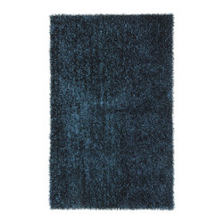 Jaipur - Flux Collection, Flux area rug by Jaipur FL03 - Personal expression reaches new heights with Flux, a beautiful range of plush, hand-woven shag rugs of 100% polyester. This chameleon is ideal for the contemporary design lover who enjoys mixing up his or her personal space often  acting as a rich background to a diverse palette of furnishings and accessories. Highly textured shag construction brings comfort underfoot while a palette of fashionforward solid hues commands attention in any room.