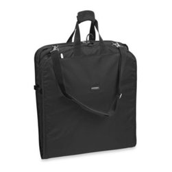 Wallybags - WallyBags 45-Inch Large Shoulder Strap Garment Bag - This lightweight garment bag is great for travel by land, air, and sea. Features WallyLock secure hangers at the top so clothes stay neat and wrinkle-free and won't fall to the bottom of the bag.