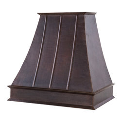 "Premier Copper Products - Premier Copper Products 38"" 625 CFM Copper Euro Range Hood w/ Baffle Filters - Premier Copper Products HV-EURO38-C2036BP-B 38"" 625 CFM Hand Hammered Copper Wall Mounted Euro Range Hood with Baffle Filters"