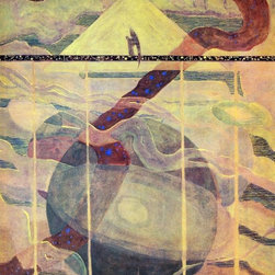 "Mikalojus Ciurlionis Andante Sonata of the Stars - 16"" x 20""  Print - 16"" x 20"" Mikalojus Ciurlionis Andante Sonata of the Stars premium archival print reproduced to meet museum quality standards. Our museum quality archival prints are produced using high-precision print technology for a more accurate reproduction printed on high quality, heavyweight matte presentation paper with fade-resistant, archival inks. Our progressive business model allows us to offer works of art to you at the best wholesale pricing, significantly less than art gallery prices, affordable to all. This line of artwork is produced with extra white border space (if you choose to have it framed, for your framer to work with to frame properly or utilize a larger mat and/or frame).  We present a comprehensive collection of exceptional art reproductions byMikalojus Ciurlionis."