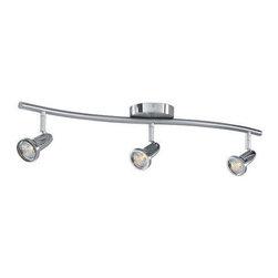 Access Lighting - Access Lighting 52203-BS Cobra Modern Track Light - Brushed Steel - Access Lighting 52203-BS Cobra Modern Track Light In Brushed Steel