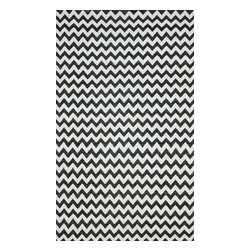 nuLOOM - Contemporary Outdoor 5' x 8' Black Flatweave Area Rug Outdoor Reversible Chevron - Made from the finest materials in the world and with the uttermost care, our rugs are a great addition to your home.