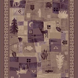 Milliken & Company - Deer Trail Light Amethyst Rectangular: 5 Ft. 4 In. x 7 Ft. 8 In. Rug - StainMaster Brand Stain Treatment with 10 year wear warranty  Milliken & Company - P7317-C7920-S201