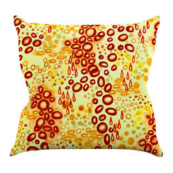 "Kess InHouse - Ebi Emporium ""Circular Persuasian Brown"" Yellow Throw Pillow (16"" x 16"") - Rest among the art you love. Transform your hang out room into a hip gallery, that's also comfortable. With this pillow you can create an environment that reflects your unique style. It's amazing what a throw pillow can do to complete a room. (Kess InHouse is not responsible for pillow fighting that may occur as the result of creative stimulation)."