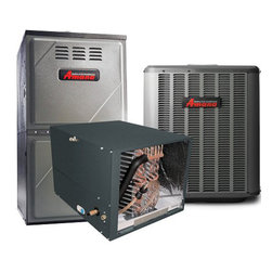 Amana - Amana 5.0 ton 13 Seer Split System AC With Gas Furnace Package. 80% AFUE. Horizo - Complete 5.0 Ton Split System AC With Gas Furnace, 80% AFUE, this unit uses R-410A Refrigerant,  ASX130601C, CHPF4860D6D, AMH81405DN. Short Desc.; AC Condenser, A-Coil, and Gas Furnace - LINESET NOT INCLUDED AC, Amana Split-System AC  Our AC come complete with everything: the AC outdoor unit, indoor A-Coil, and Gas Furnace . You will only need miscellaneous parts such as copper line-set, plastic condenser pad, thermostat wiring, and electrical wiring to finish off installation. Performance Data Cooling Sensible SEER EER     Db 57,000 41,000  13.00  11.10      77.0 ASX13 Air Conditioner   13 SEER Efficiency R-410A Chlorine-Free Refrigerant 1�- to 5-Ton Cooling Capacity   Outstanding Warranty Protection*  The Amana� brand ASX13 Air ...