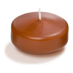"""Neo-Image Candlelight Ltd - Set of 9 - Yummi 3"""" Toffee Floating Candles - Our unscented 3"""" Floating Candles are ideal when creating a beautiful candlelight arrangement for the home or wedding decor.  Available in 44 trendy candle colors hand over dipped with white core to match and compliment your home decor or wedding centerpiece decoration."""