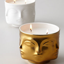 Jonathan Adler - Jonathan Adler Muse Candle - Gold and glam with a bit of an artsy edge, this candle will look so chic wherever you put it. Once the wax is gone, the holder makes for a very beautiful little vase or catchall too.