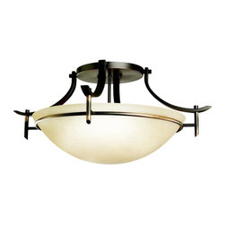 Kichler Lighting - Kichler Lighting - 3606OZ - Olympia - Three Light Semi-Flush Mount - The Olympia Collection brings a modern twist on the classic aesthetic to create a new form the likes of which has not been seen before.