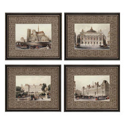 Paragon - Paris Icons PK/4 - Framed Art - Each product is custom made upon order so there might be small variations from the picture displayed. No two pieces are exactly alike.