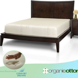 Comfort Dreams - Comfort Dreams Organic Cotton 10-inch Full-size Memory Foam Mattress - When its time to find a new mattress for two, this 10-inch thick memory foam mattress deserves serious consideration. The full-size mattress has a seven-inch thick base for firm support and a three-inch top layer of memory foam to reduce pressure points.