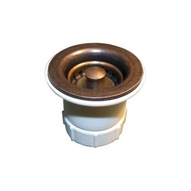 "2"" Jr. Strainer In Weathered Copper - The darling 2"" Jr. Strainer from Native Trails is designed to last. Best of breed o-ring construction makes this drain extremely durable and wonderfully easy to use. High quality plating creates superb finishes that coordinate with Native Trails' copper hand-hammered bar sinks: oil-rubbed bronze, brushed nickel or weathered copper."