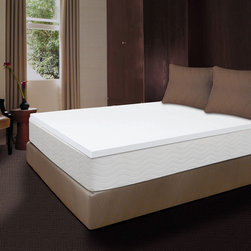 Sealy - Sealy Premium 1.5-inch Memory Foam Mattress Topper - Sleep comfortably with this Sealy Premium 1.5 inch Memory Foam Mattress topper. This topper conforms to your body,offering plush comfort and support.