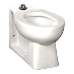 "American Standard - American Standard 3313.001.020 Right Height Huron HET Elongated FV Bowl, White - American Standard 3313.001.020 Right Height Huron HET Elongated FV Bowl With Bed Pan Lugs, Top Spud,  White. This universal bowl features a Right Height of 16-1/2"", an elongated flush valve, a space-saving 24-1/2"" from the wall to the front of the bowl, a siphon jet action flush, a fully glazed 2"" trapway, a 1-1/2"" inlet spud, 4 bolt caps, and an EverClean surface that inhibits the growth of bacteria, mold, and mildew. This model features bed pan lugs and mounting holes."
