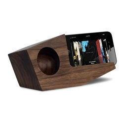 Inova Team -Rustic Wooden Amplifier, Walnut - Pivot Acoustic Amp provides enhanced passive acoustic amplification of 2-4 times the volume for your favorite music or video!