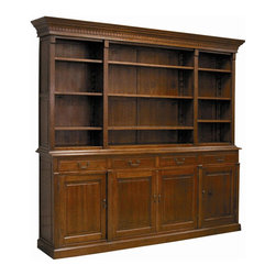 EuroLux Home - New Large Country Manor Open Hutch Crown - Product Details
