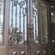Eclectic Front Doors by International Iron and Stone LLC