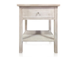 Kingston Krafts - Farmhouse White Wash Nighstand - MADE IN USA