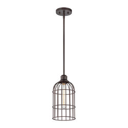 Savoy House - Savoy House 7-5062-1-13 Vintage Mini Pendant - These sleek Savoy House mini pendants are vintage inspired with metal shades and cages.  Available in English Bronze and Satin Nickel.