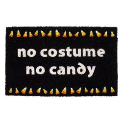 Entryways - Entryways No Candy 17 in. x 28 in. Non Slip Coir Door Mat P977 - Shop for Holiday Decorations at The Home Depot. This distinctive doormat from Entryways Sweet Home collection bears an original design created by an artist. This mat is crafted of all-natural coir with non-slip backing to meet the industry s highest standards. It combines an artist s touch with affordability to provide functional artistry for the home.