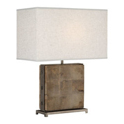 Robert Abbey - Robert Abbey Oliver Table Lamp 828 - Unfinished Mango Wood with Patina Nickel Accents