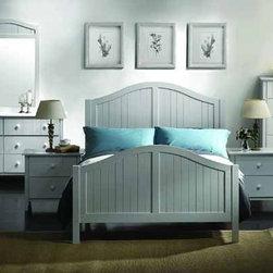 Yuan Tai Furniture - Avalon White Full Bed - AV1379F - Solid Hard Wood