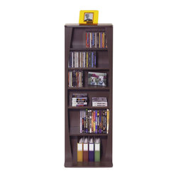 Atlantic Inc - Atlantic Inc Canoe Multimedia Wood Cabinet for 231 CDs or 115 DVDs in Espresso - Atlantic Inc - CD and DVD Media Storage - 22535717 - Atlantic Inc. brings you innovative media storage solutions for your home. Keep all your media organized with this sophisticated high capacity media storage. Curved accents offer stylish approach to multimedia storage with a uniquely designed extended base provides extra stability. Adjustable shelves provide maximum flexibility to store a variety of media types.