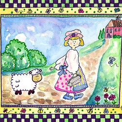 Oh How Cute Kids by Serena Bowman - Mary and the Lamb, Ready To Hang Canvas Kid's Wall Decor, 11 X 14 - Each kid is unique in his/her own way, so why shouldn't their wall decor be as well! With our extensive selection of canvas wall art for kids, from princesses to spaceships, from cowboys to traveling girls, we'll help you find that perfect piece for your special one.  Or you can fill the entire room with our imaginative art; every canvas is part of a coordinated series, an easy way to provide a complete and unified look for any room.