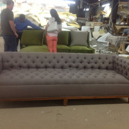 ROXY STYLE - The Roxy Sofa, with diamond tufting and metal legs