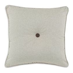 Chooty & Co. - Chooty and Co Linen Natural Copper Button Tufted Corded D-Fiber Pillow Multicolo - Shop for Pillows from Hayneedle.com! About Chooty & Co.A lifelong dream of running a textile manufacturing business came to life in 2009 for Connie Garrett of Chooty & Co. This achievement was kicked off in September of '09 with the purchase of Blanket Barons well known for their imported soft as mink baby blankets and equally alluring adult coverlets. Chooty's busy manufacturing facility located in Council Bluffs Iowa utilizes a talented team to offer the blankets in many new fashion-forward patterns and solids. They've also added hundreds of Made in the USA textile products including accent pillows table linens shower curtains duvet sets window curtains and pet beds. Chooty & Co. operates on one simple principle: What is best for our customer is also best for our company.