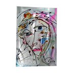 Original Painting Direct from Artsit - Jon Allen - Modern Abstract Metal Original Painting by Jon Allen - Portrait in Pink - Modern Abstract Metal Original Painting by Jon Allen - Portrait in Pink | by Jon Allen