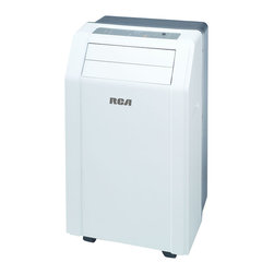 RCAAC - 12000 BTU Portable Air Conditioner - The RCA RACP1206 3-in-1 Portable 12,000 BTU Air Conditioner is perfect for cooling rooms up to 500 square feet. The no-bucket design has an auto evaporating system for worry-free operation. The 3-in-1 operation includes cooling, dehumidifier and fan. It has digital controls with LED display, 12-hour digital timer and a full-function remote control allowing you to control this unit from acros