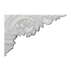 """Ekena Millwork - 10 5/8""""W x 7""""H x 5/8""""D Telma Stair Bracket, Right - With the beauty of original and historical styles, decorative stair brackets add the finishing touch to stair systems.  Manufactured from a high density urethane foam, they hold the same type of density and detail as traditional plaster stair bracket products.  They come factory primed and can be easily installed using standard finishing nails and/or polyurethane construction adhesive."""