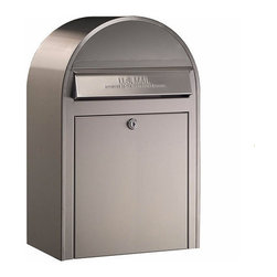 Bobi Mailboxes - USPS Bobi Classic Mailbox, Front Access Lockable, Stainless Steel - **This listing is for just the mailbox without the mailbox post. There is a separate listing for the set.