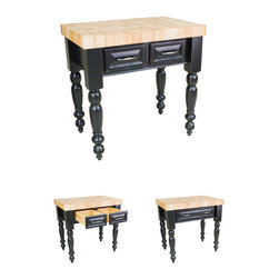 Hardware Resources - Kitchen Islands - Comes with a  hard maple butcher block top.