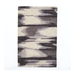 Faded Ikat Rug | West Elm - This rug wouldn't show spills, and it has a dreamy pattern.