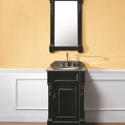 "24"" Lugano Single Bath Vanity - Antique Black -"
